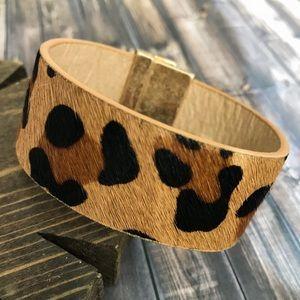 Jewelry - Leopard Leather Bracelet